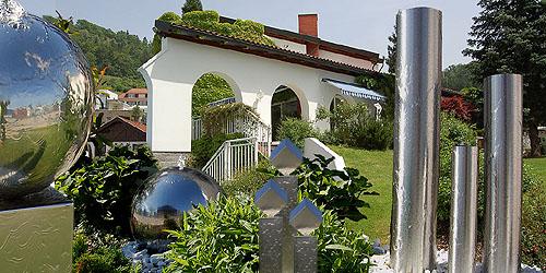 edelstahlbrunnen f r garten und wohnbereich v4a edelstahl rostfrei. Black Bedroom Furniture Sets. Home Design Ideas